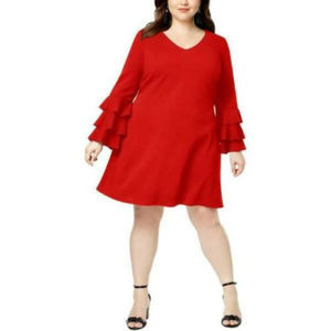 LOVE SQUARED Plus Size Cocktail Party Dress, 2X